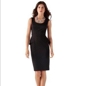 White House Black Market Soft Peplum Dot Dress